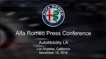 Conférence de presse Alfa Romeo Stelvio