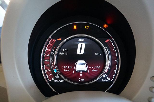 compteur TFT FIAT 500